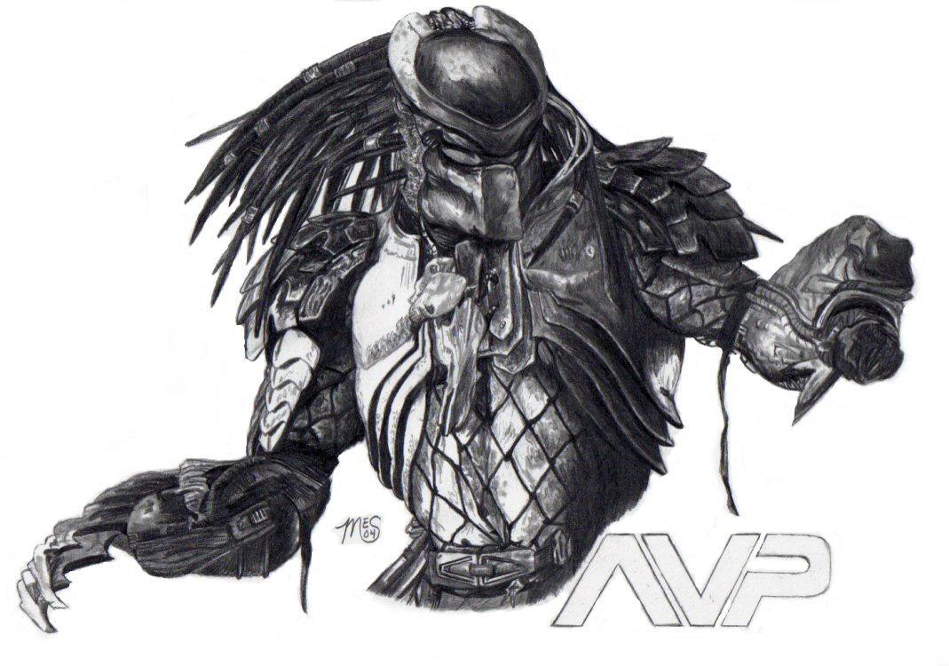 aliens vs predator drawings - photo #4