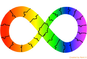Autism awareness/acceptance infinity ribbon