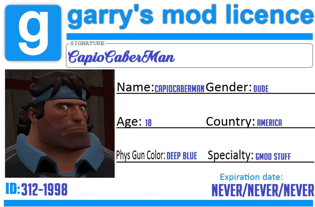 Gmod licence by CapioCaberMan