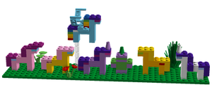 Lego Mane 6 and Spike