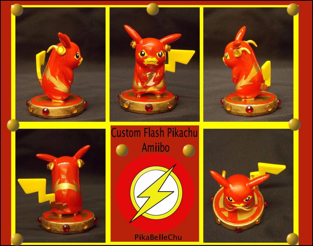 Custom Flash Pikachu Amiibo by pikabellechu