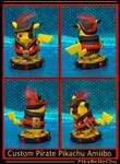 Custom Pikachu Pirate Amiibo