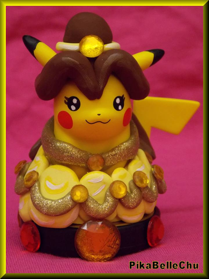 Custom Princess Belle Pikachu Amiibo Version 2 by pikabellechu