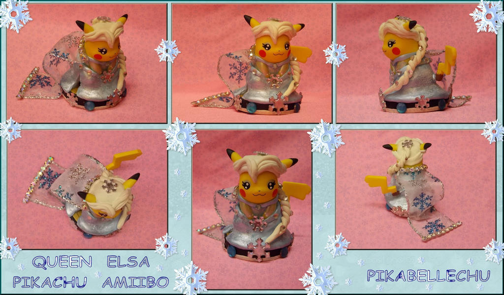Custom Queen Elsa Pikachu Amiibo Version 2 by pikabellechu