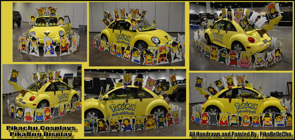 Pikachu Cosplays PikaBug Display by pikabellechu