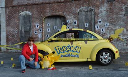 Tim Goodman and Detective Pikachu