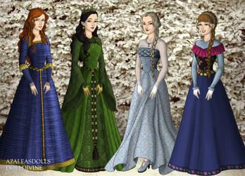 Disney Tudor Princesses 3 by jesusismybestie
