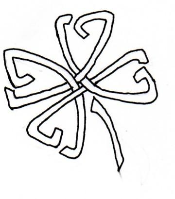 four leaf clover celtic tattoo by airnymphss on deviantart. Black Bedroom Furniture Sets. Home Design Ideas