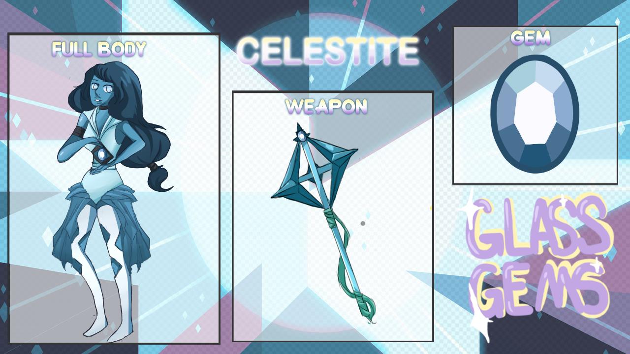 Glass-Gems - Application: Celestite by HiKari-yushi on