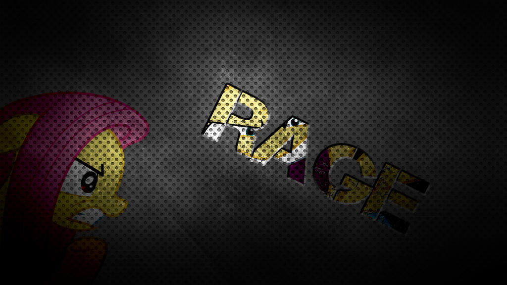 Rage - Fluttershy Wallpaper by Amoagtasaloquendo