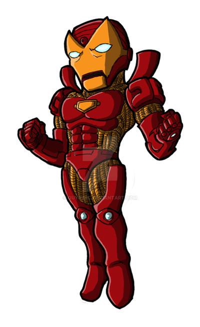 how to draw chibi iron man