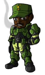 Chibi Sgt Avery J. Johnson by GuyverC