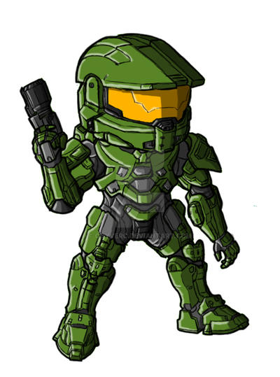 Chibi Halo 4 Chief by GuyverC