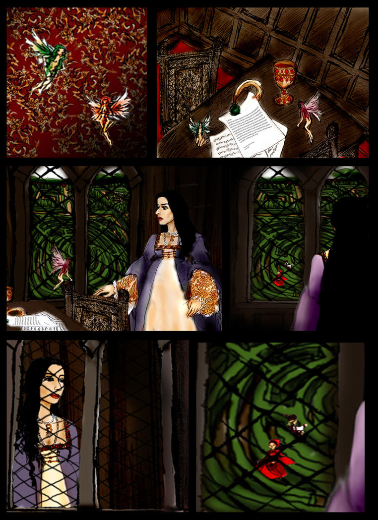The princess and the Faeries Page1 by Dollysmith