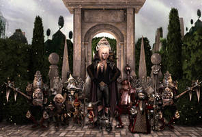 Goblin king and his mini soldiers by Dollysmith