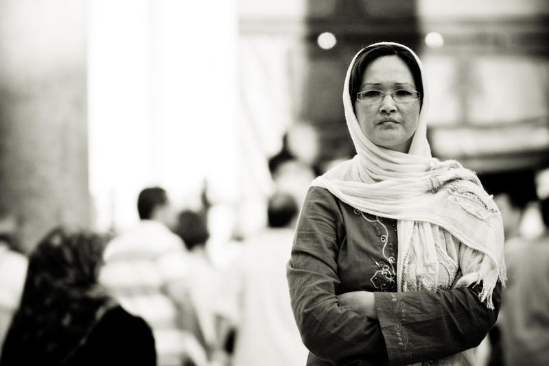 Lady In Mosque