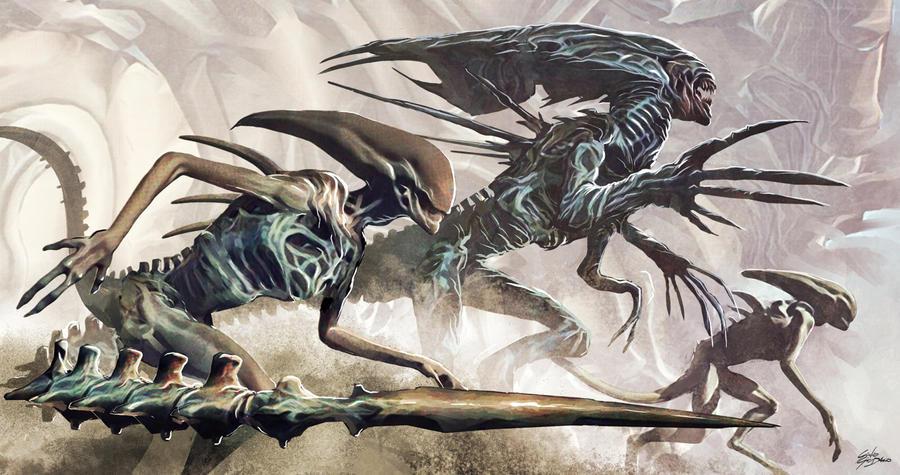 Xenomorph attack by blindobot