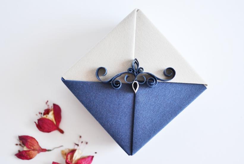 Navy Blue Origami Gift Box By Reversecascade On Deviantart
