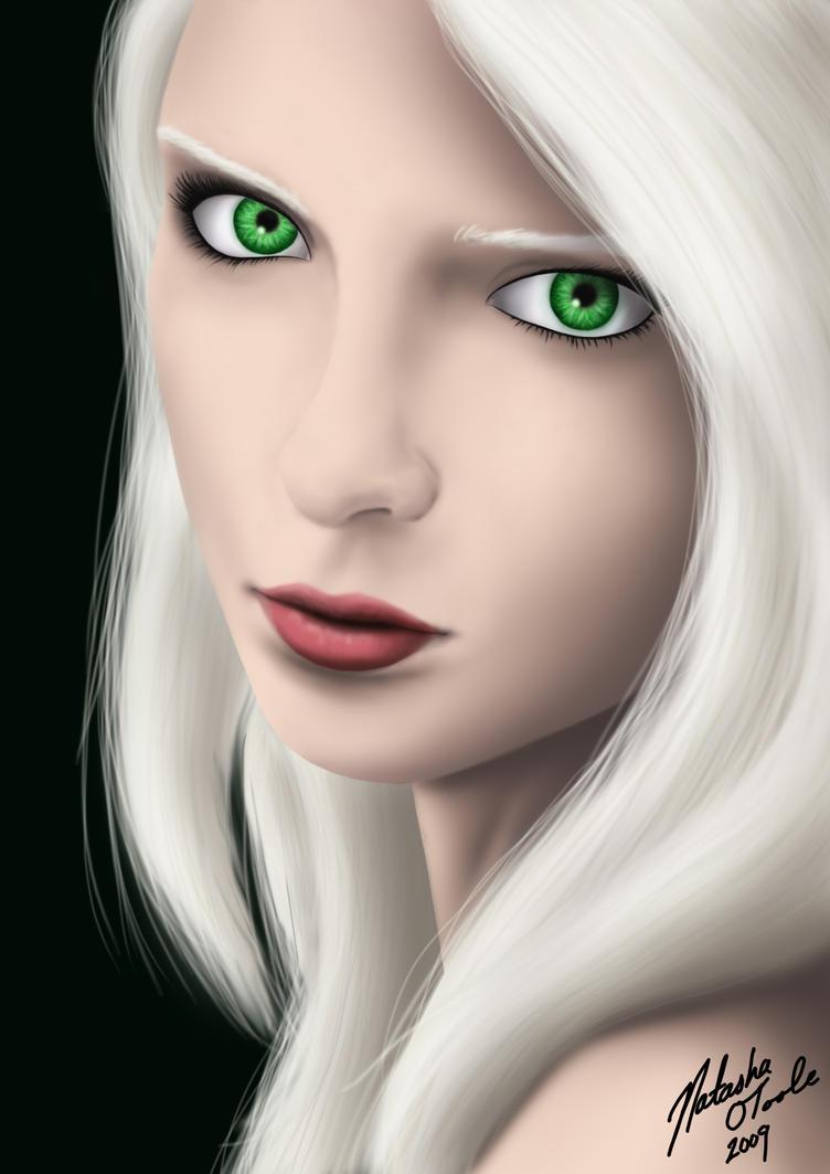 White Haired Girl by TashOToole on DeviantArt  White Haired Gi...