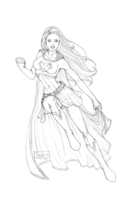 Supergirl Sketch by TashOToole on DeviantArt