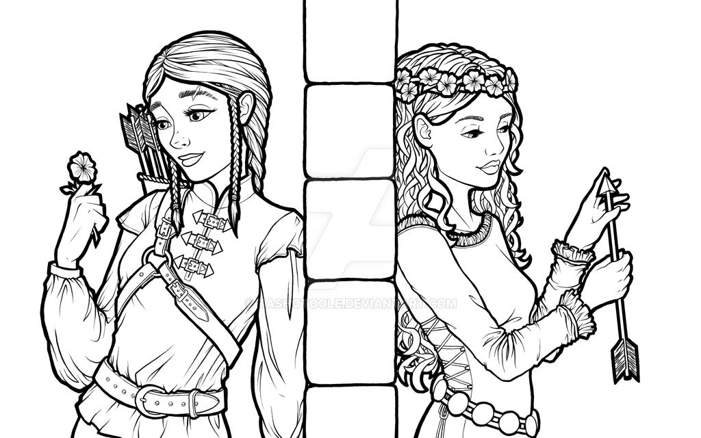 Once Upon a Twist: Sleeping beauty, lineart by TashOToole