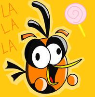 Orange bird LA LA LA by rita-kasane