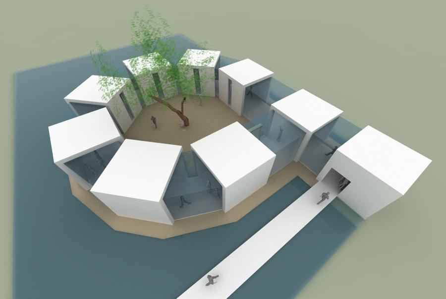 Pavilion expozitional by AzFaka