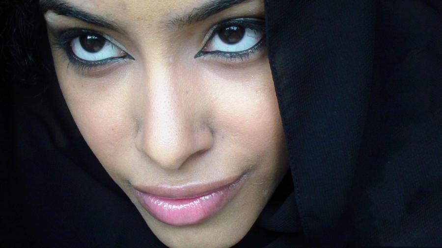 Black Hijab Stock 1 by Desert-Winds