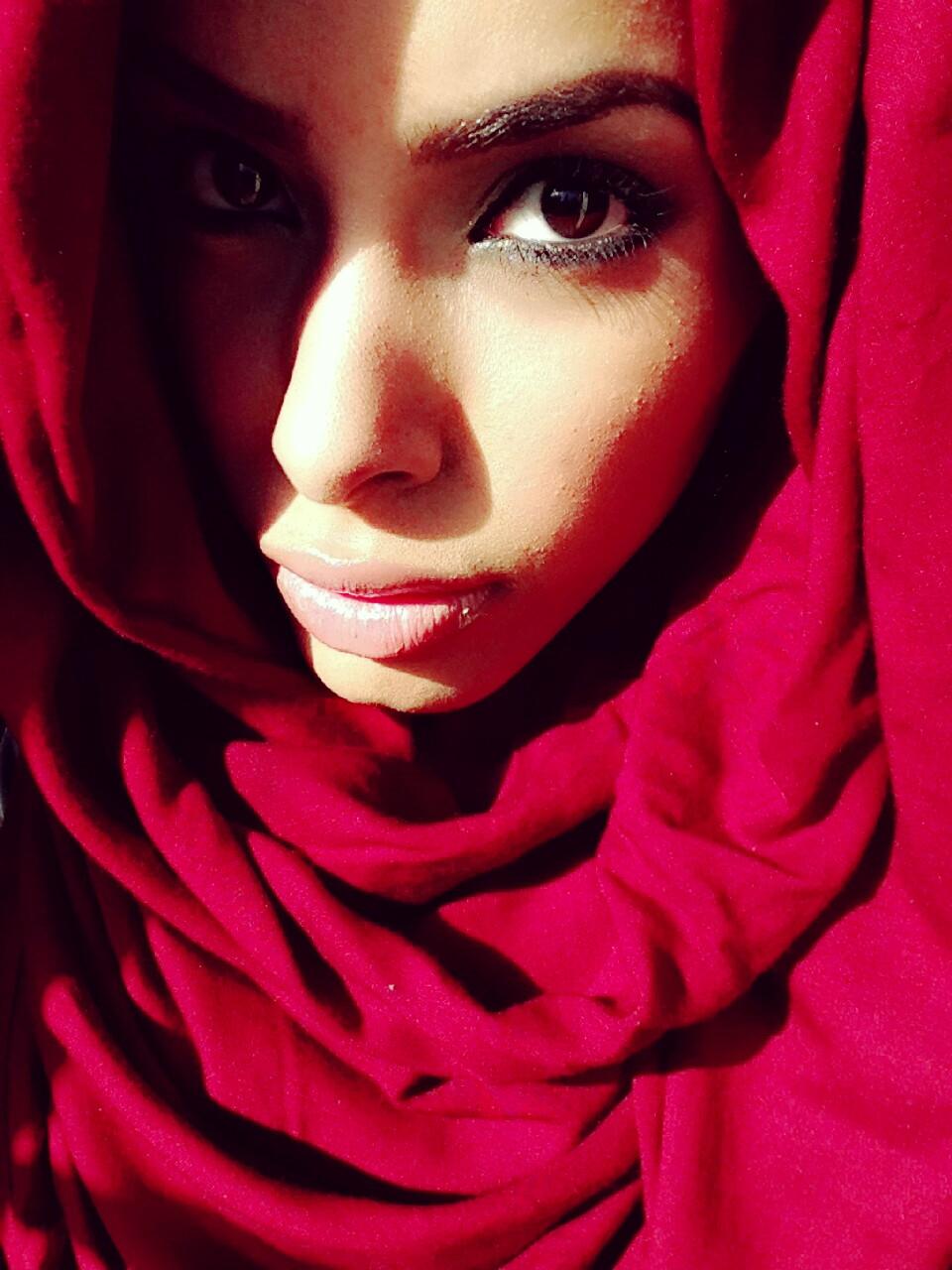 red veil hijab stock 2 byhijab