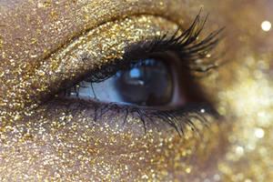 Gold Glitter Eye Stock14 by Desert-Winds