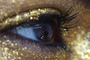 Gold Glitter Eye Stock15 by Desert-Winds