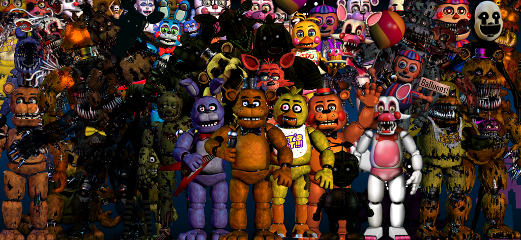 all animatronics by miebot3367 on deviantart
