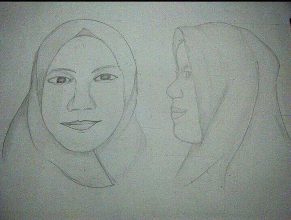 Line Art Wajah : Sketsa wajah depan samping by rishaafiska on deviantart