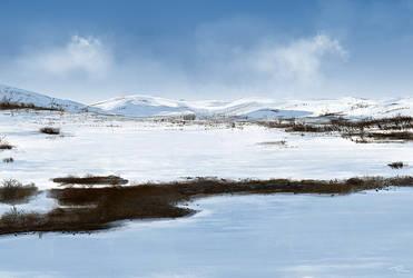Winter Landscape Speedpaint by beyond-time