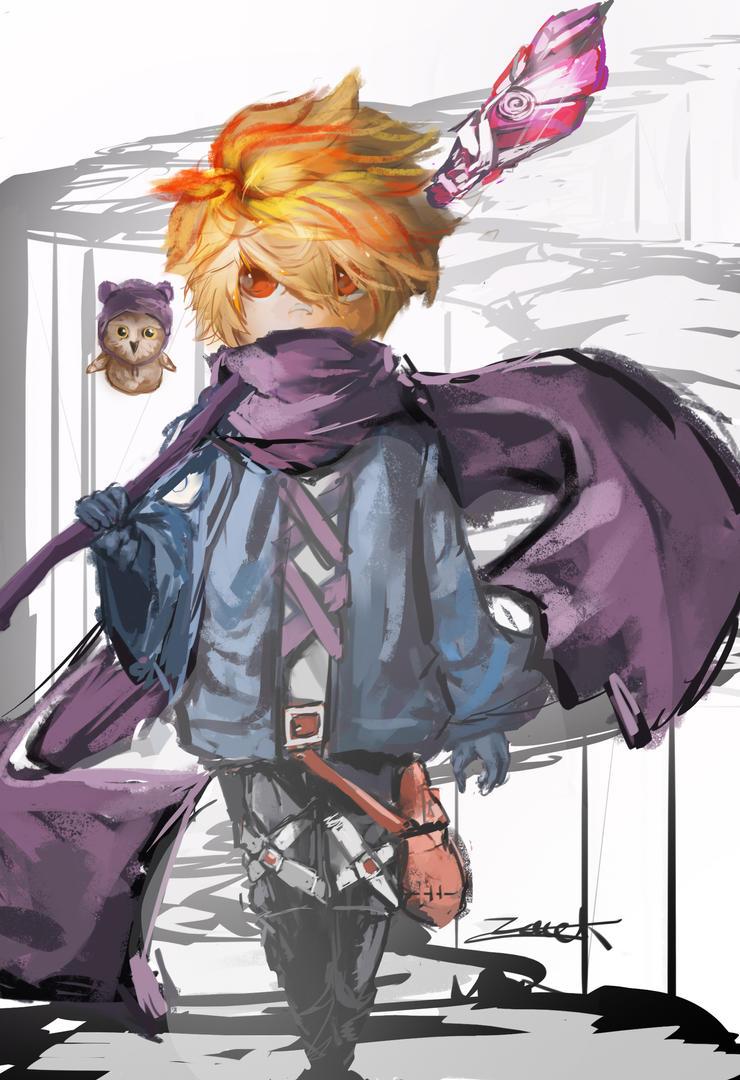 Purple Wizard by DarkStarShooter