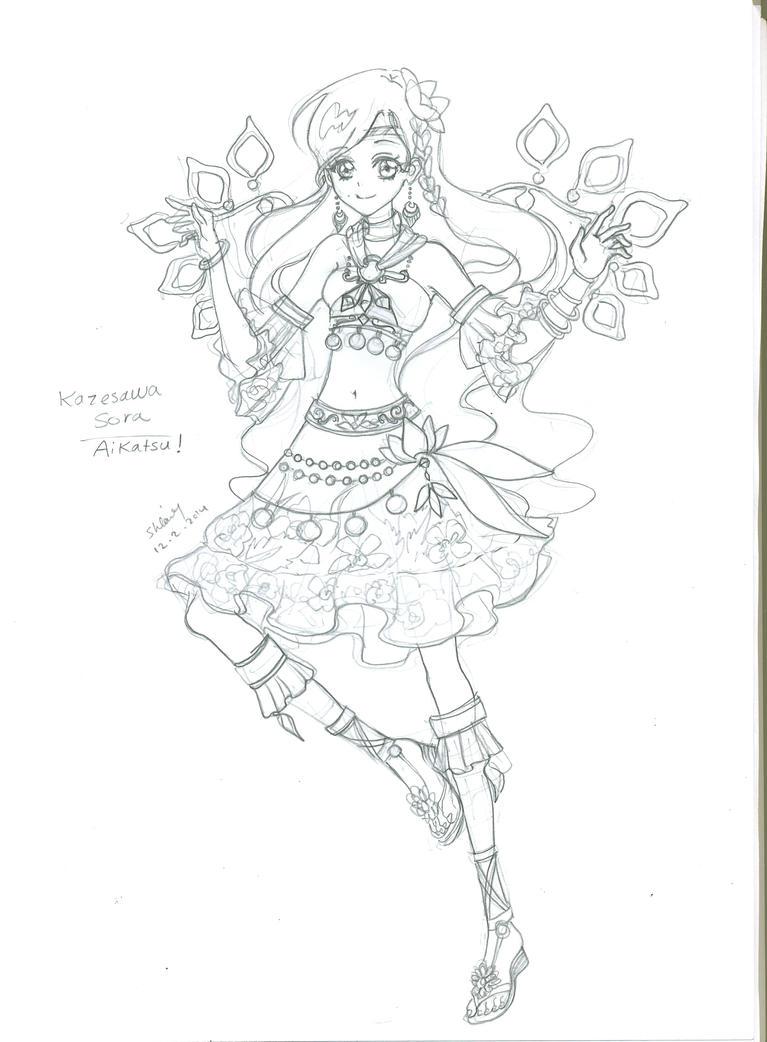 Kazesawa Sora Aikatsu by korean64