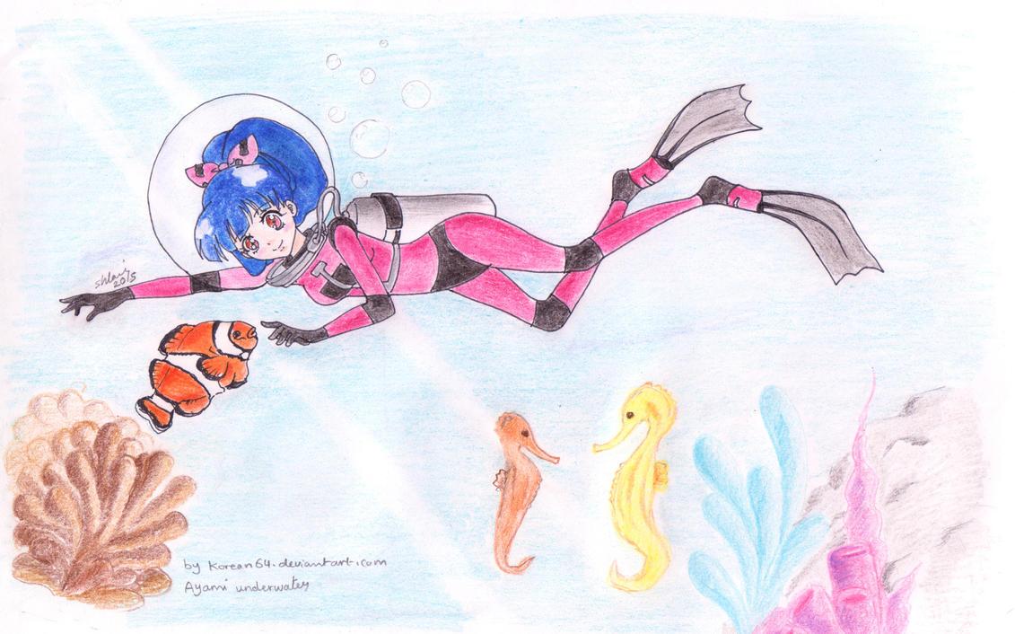 Ayami Ooruri underwater - commission by korean64