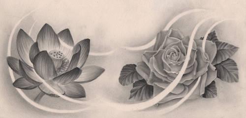 Lotus and Rose