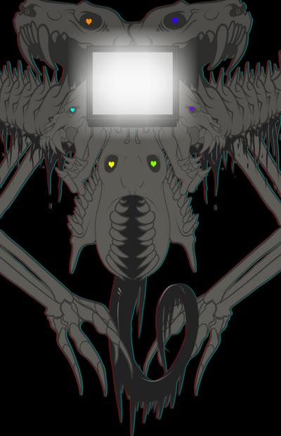 Omega!Gaster {Undertale Fanart} by zaminaku