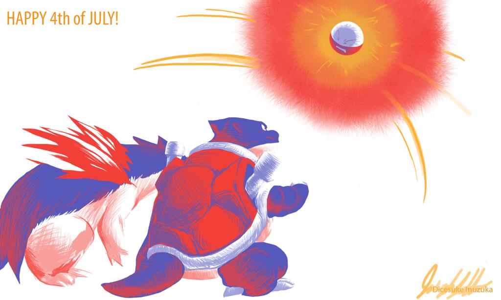 4th of July - pokemon battle by DicesukeInuzuka