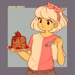 Yummy Pancakes by Nana-Naexii