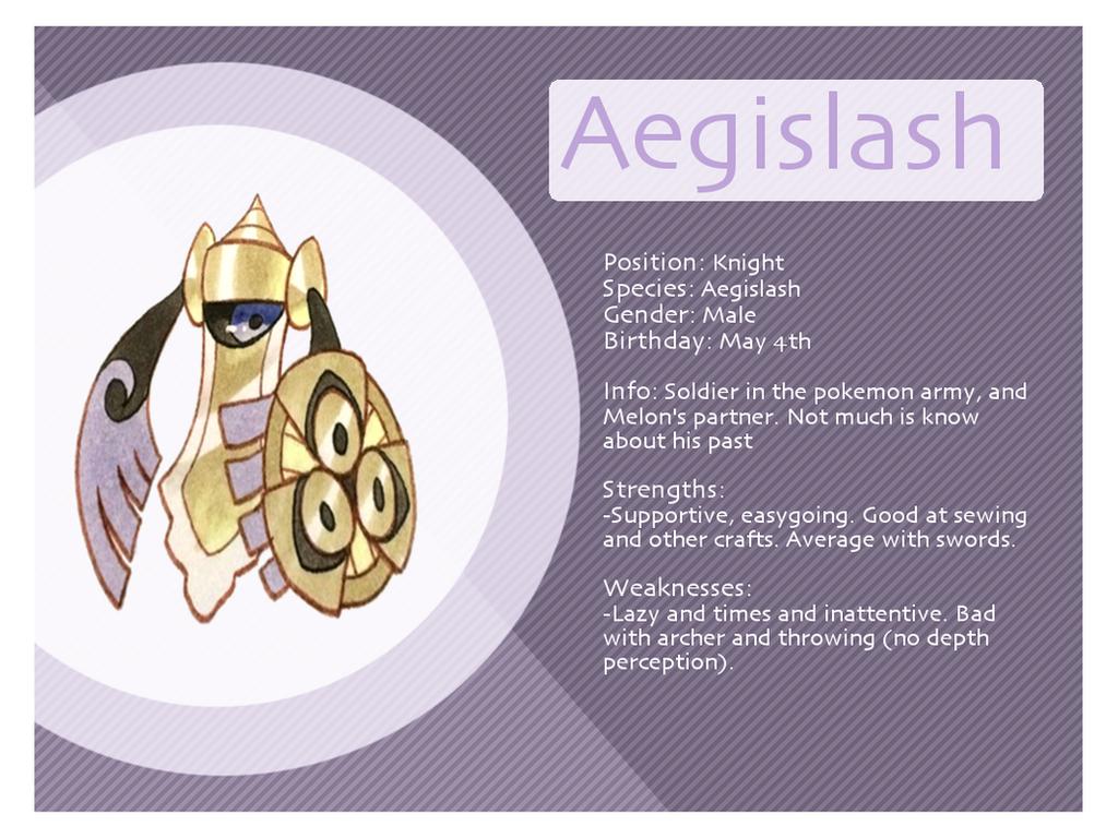Aegislash Bio Sheet by Xyliax