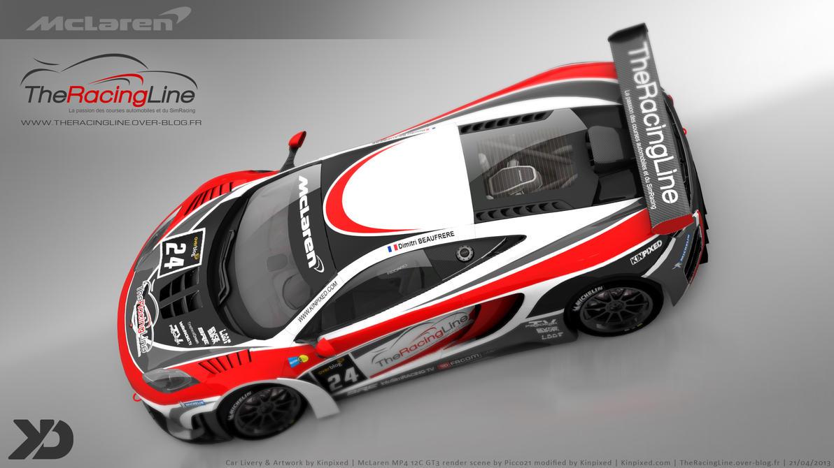 the racing line mclaren mp4 12c gt3 2013 by kinpixed. Black Bedroom Furniture Sets. Home Design Ideas