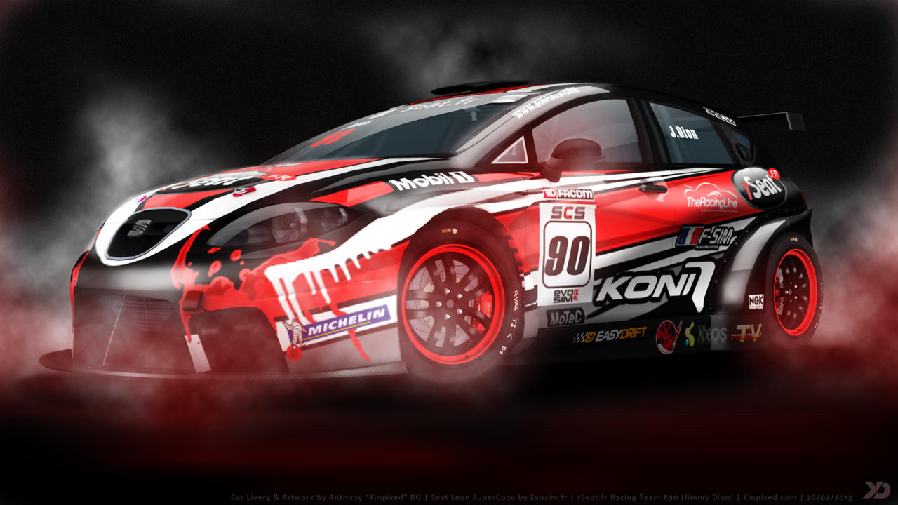 rseat racing team seat leon supercopa 2013 by kinpixed on deviantart. Black Bedroom Furniture Sets. Home Design Ideas