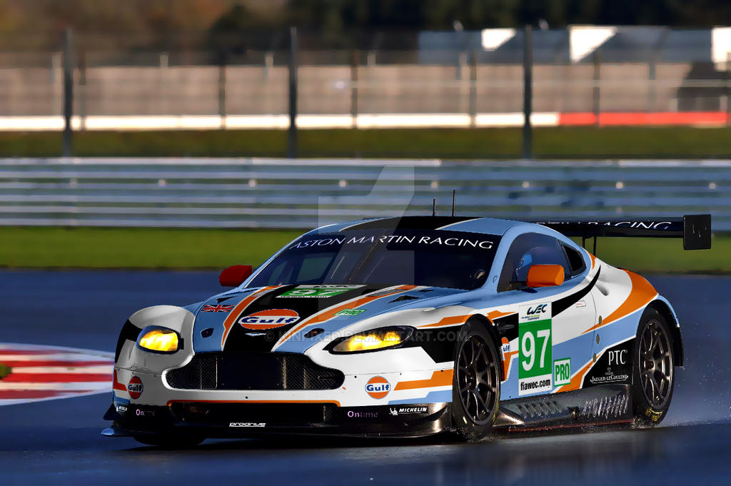 gulf a.m. racing - v8 vantage gte livery conceptkinpixed on
