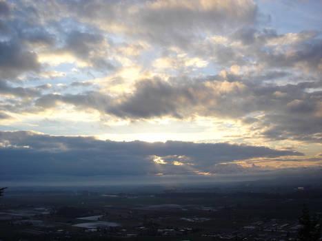 Cloudbreak Over the Valley