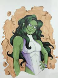 She-Hulk by birdiebo
