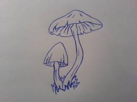 Mushroom tattoo by PurrfectlyFlawed