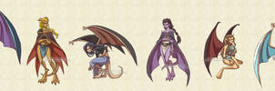 Gargoyles: Gar-girls by YoukaiYume