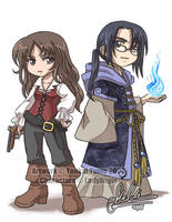 Azel and Cornelius by YoukaiYume